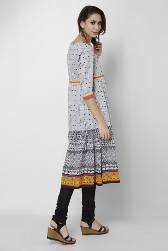 MAX Printed Anarkali Churidar Kurta Set