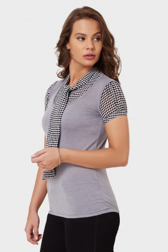 MAX Tie-Up Neck Top