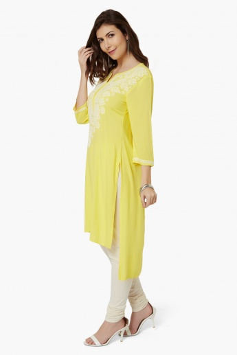 MAX Embroidered High-Low Kurta