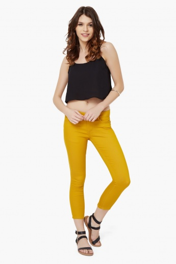 MAX Stretchable Zipped Ankle Cropped Pants