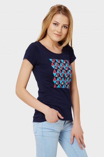 MAX Graphic Imprint Round Neck T-Shirt