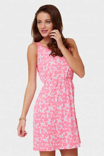 MAX Printed Strappy Dress
