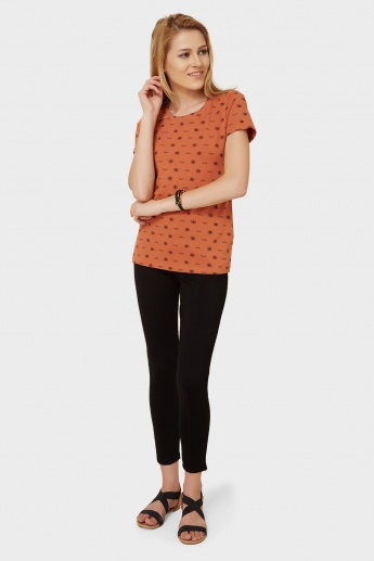 MAX Flutter Up Round Neck Top