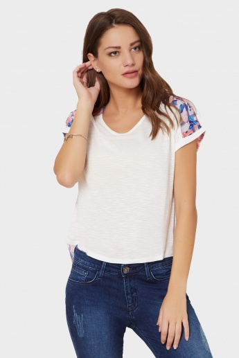 MAX High Low Fusion Fabric Top