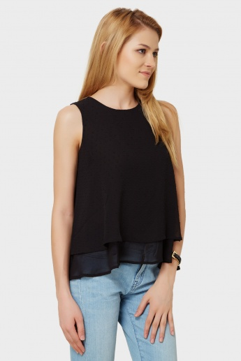 MAX Layered Textured Top