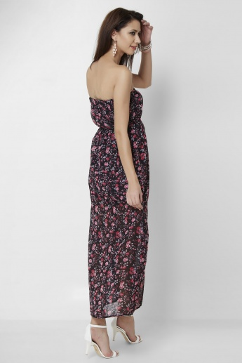 MAX Floral Printed Tube Dress