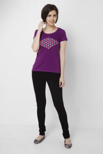MAX Graphic Printed Round Neck T-Shirt