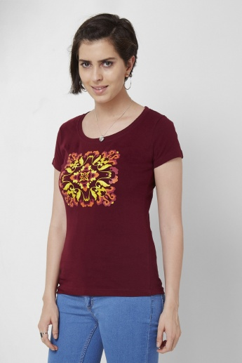 MAX Graphic Print Round Neck T-Shirt
